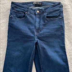 Zara High Rise Dark Wash Super Skinny Jeans Size 6